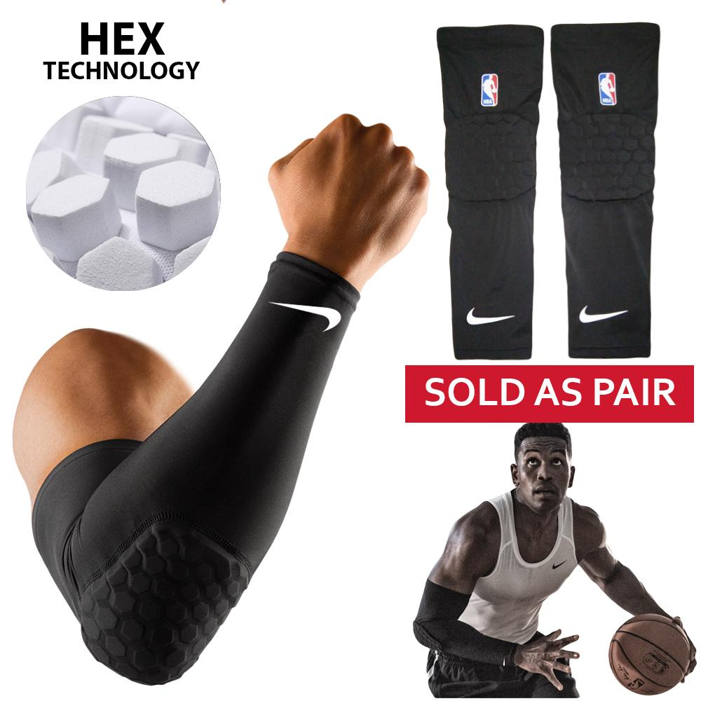 ec2451fdad NBA Honeycomb Protective Basketball Shooter Arm Sleeve Pad, Sold as Pair  (Premium Quality)