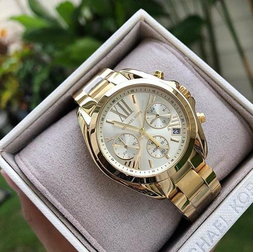 e20568d26687 Michael Kors Bradshaw Chronograph Champagne Dial Gold-tone Women s Watch -  MK5798