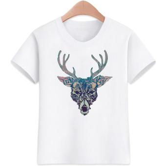3 to 16 yrs. old Deer Design for Boys Kids T-shirts Cotton Short Sleeve Kids Tops Tee Kids T-Shirts