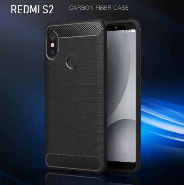 Xiaomi Redmi S2 Case Carbon Fiber Brushed Soft TPU