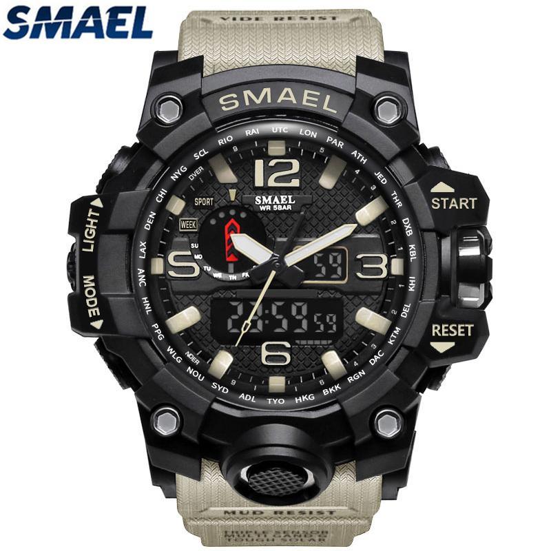 Smael Brand Waterproof Sports Quartz Watch Mens Watches Fashion Casual Men Military Led Digital Watch By Juwell.