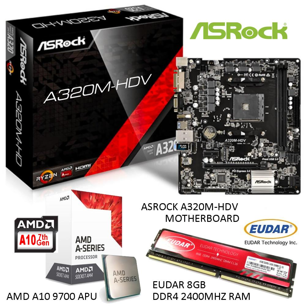 Buy Sell Cheapest Eudar 2 Pieces Best Quality Product Deals Ram Ddr2 Pc6400 4gb For Amd System Only A10 9700 Dual Core Processor With Asrock A320m Hdv Board And 8gb