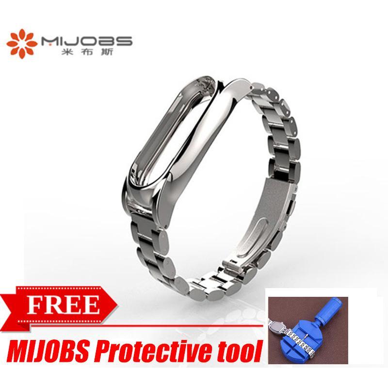 Original Mijobs Metal Strap For Xiaomi Mi Band 2 Stainless Steel Free Repair Tool By Great S Enterprises.