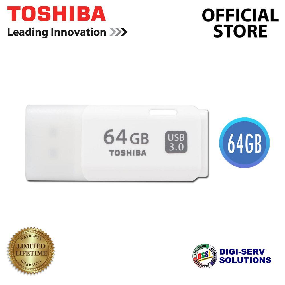 Toshiba Usb Flash Drives Philippines For Sale Flashdisk 64gb Flasdisk 64 Gb Thn U301w0640a4 Hayabusa 30 Drive White