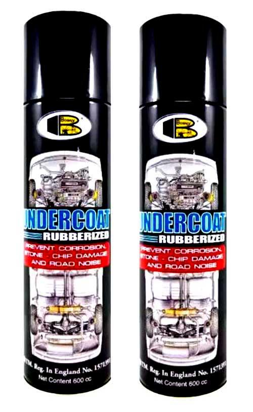 Bosny Undercoat Rubberized Spray Paint 600mL (2 Cans)