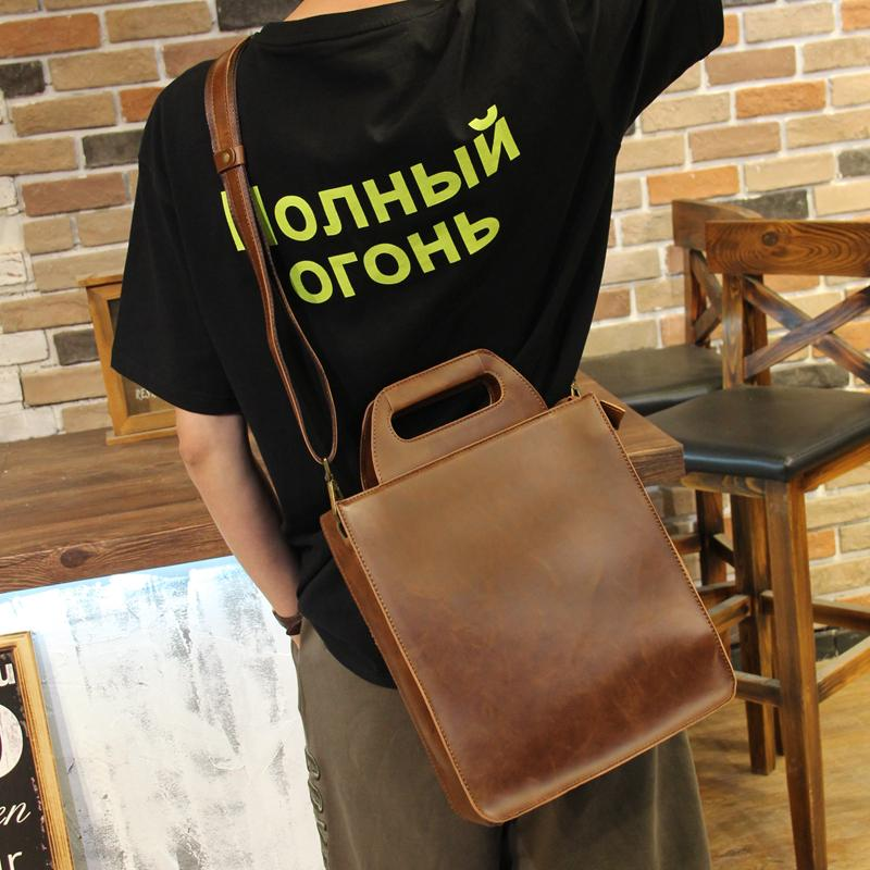 Mens Bag Handbag Verticle Business Document Men Bags Leisure Mens Bag Simple Horse Leather Philippines