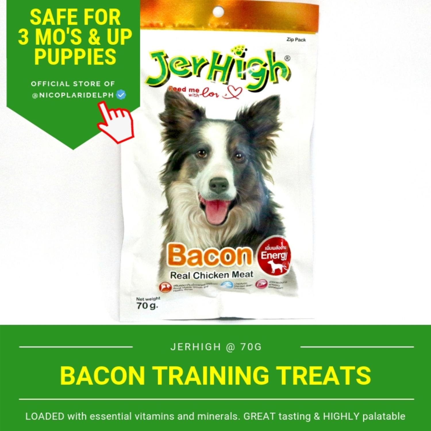 Jerhigh Bacon With Real Chicken Meat For Puppies And Adult Dogs (70g) By Nicoplaridelph.