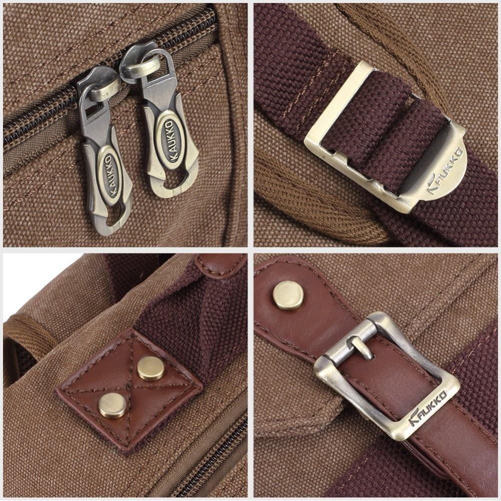 505dfc4400 KAUKKO FS261 Men s Vintage Multi-pocket Backpacks (Grey)