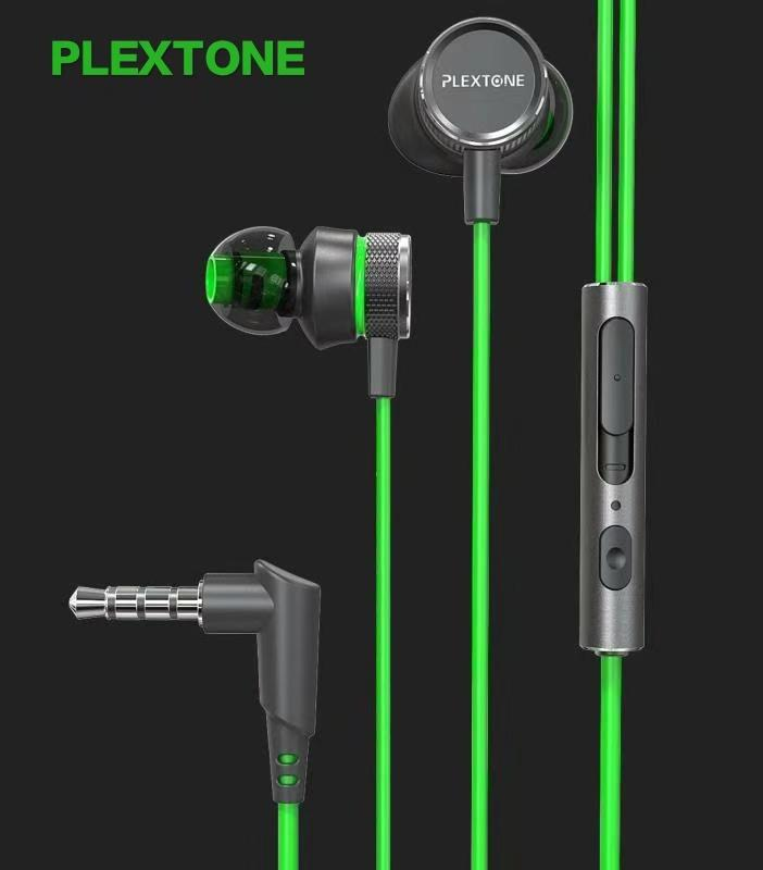 Authentic Plextone G15 Earphone For Phone 3.5mm Wired In Ear Bass Earbuds Gaming Headset With