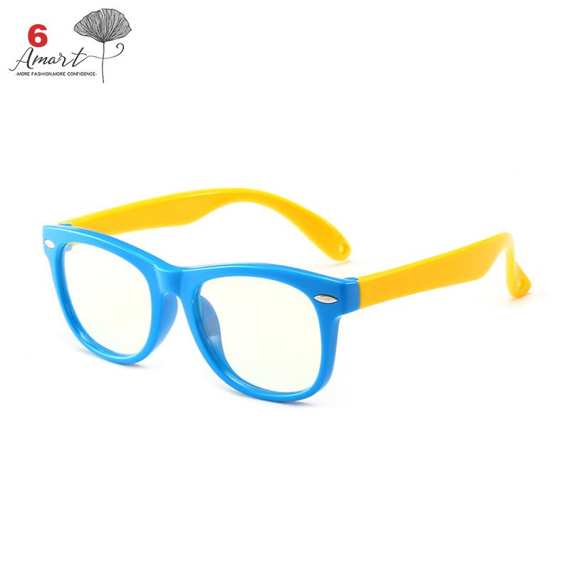 5c9a30a24d Amart Children Computer Radiation Blue Light Proof Glasses Lightweight Eye  Protect Plain Glass Spectacles