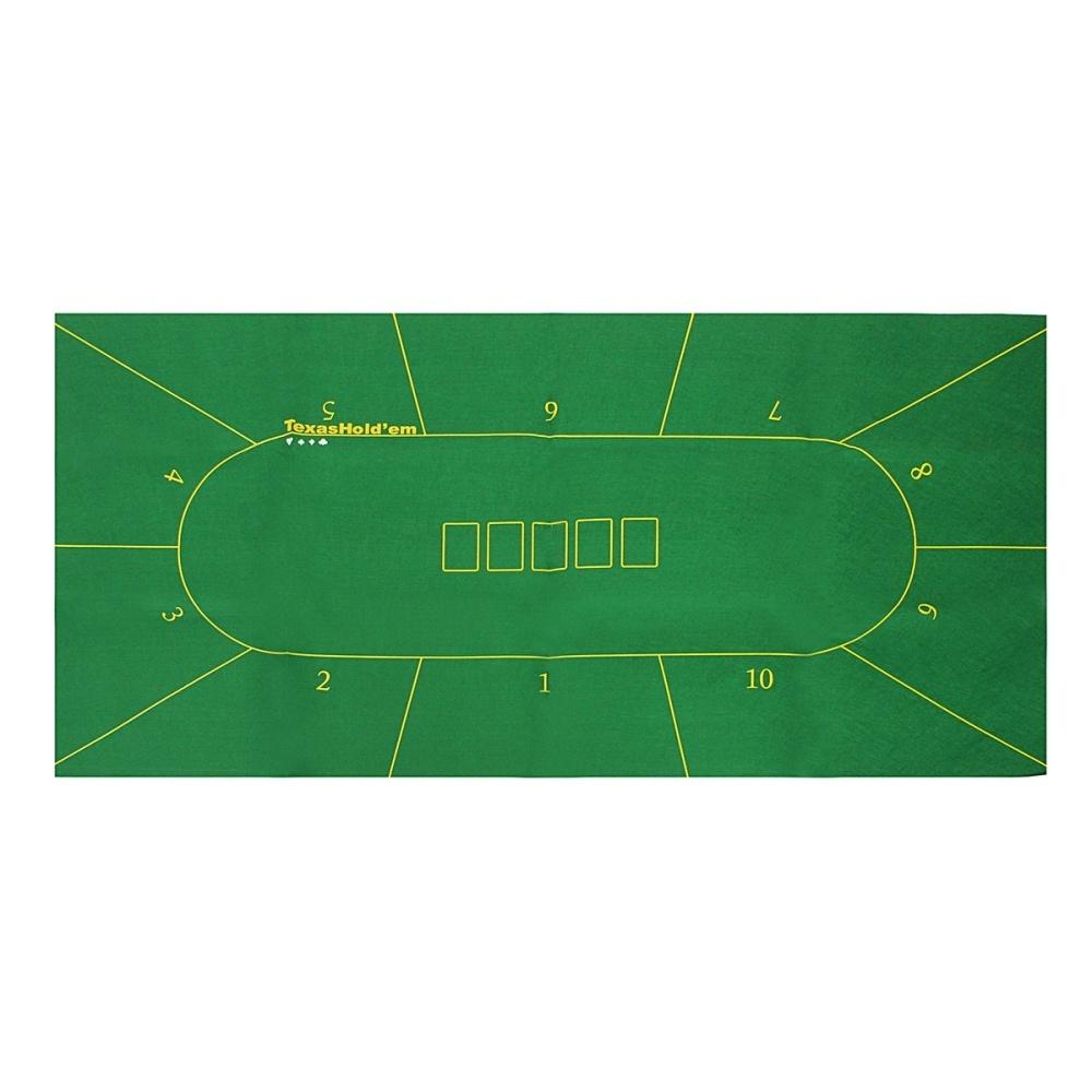 225 & 10 Player Folding Felt Rotary Texas Holdem Poker Table Cloth Fietro Board Cloth - intl