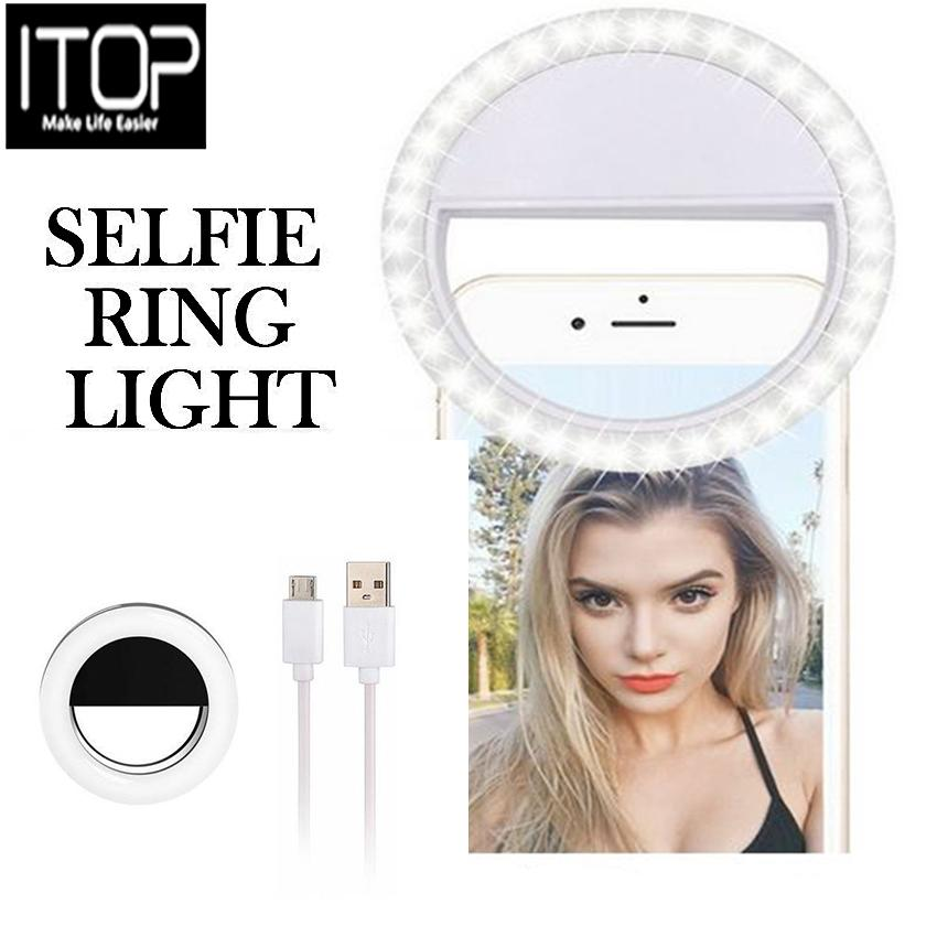 ITOP Selfie Mini Ring Light Flash 36 LED Rechargeable Camera photo Video Portable Fill-in