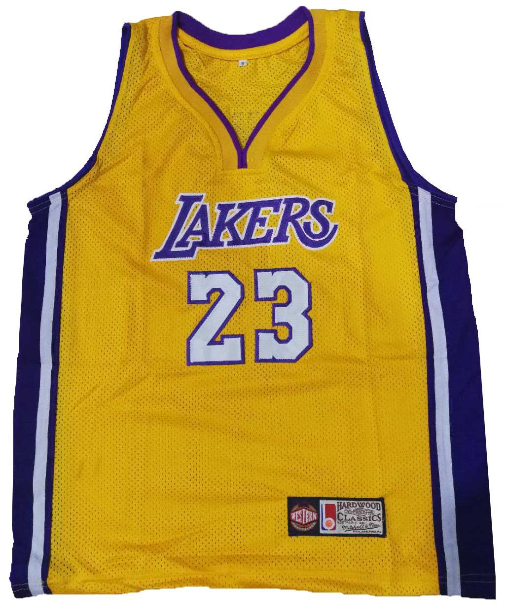 595bc059f Lakers 23 lebron james basketball jersey sando (yellow) Big Deal na ...