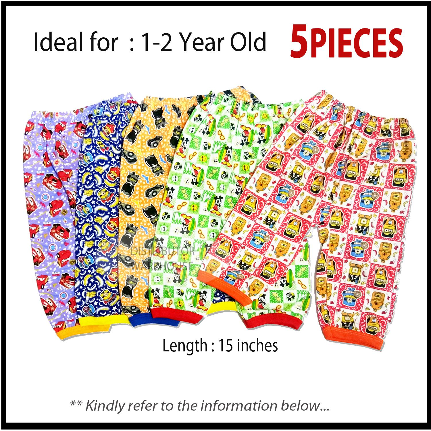 5 Pajamas For 1-2 Year Old Kids Sleepwear Comfortable To Wear (small) By Distributor Warehouse.