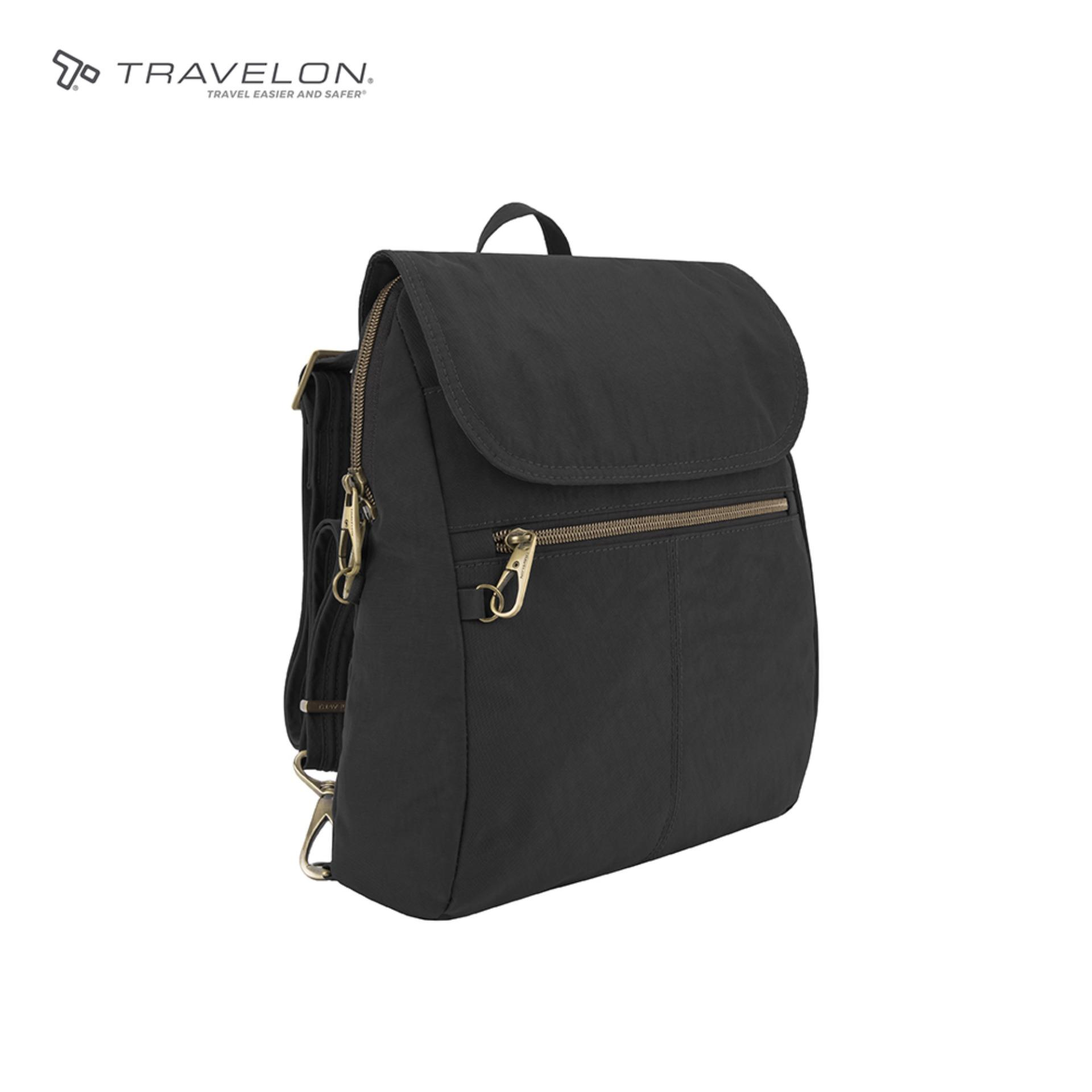 65535c40117d Travelon Signature Slim Anti-theft RFID protected Womens Safety Travel  Backpack