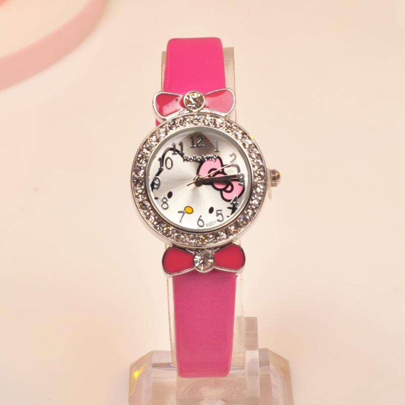 9521ea53f Hello Kitty watch watches Schoolgirl girl women girl women Cartoon watch  watches Korean Style Leisure Trend