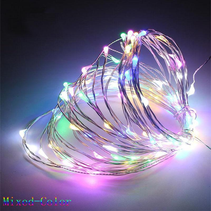 Led Fairy String Lights Indoor And Outdoor 10m/ 33ft 100 Leds Powered Via Usb For Christmas Bedroom Garden Party Wedding House Decoration (waterproof ,multicolor) By Kkpia Store.