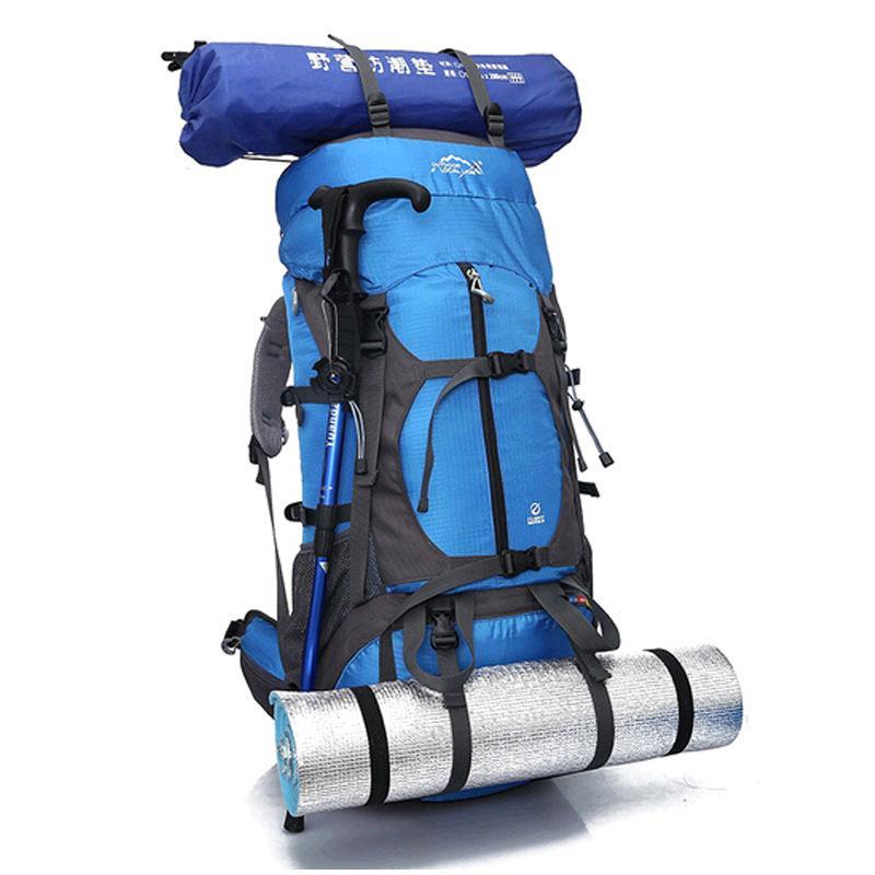 Travel Backpack Outdoor Mountaineering Bag 65l Large Capacity Backpack Men Women Camping Travel Bag Outdoor Shoulder