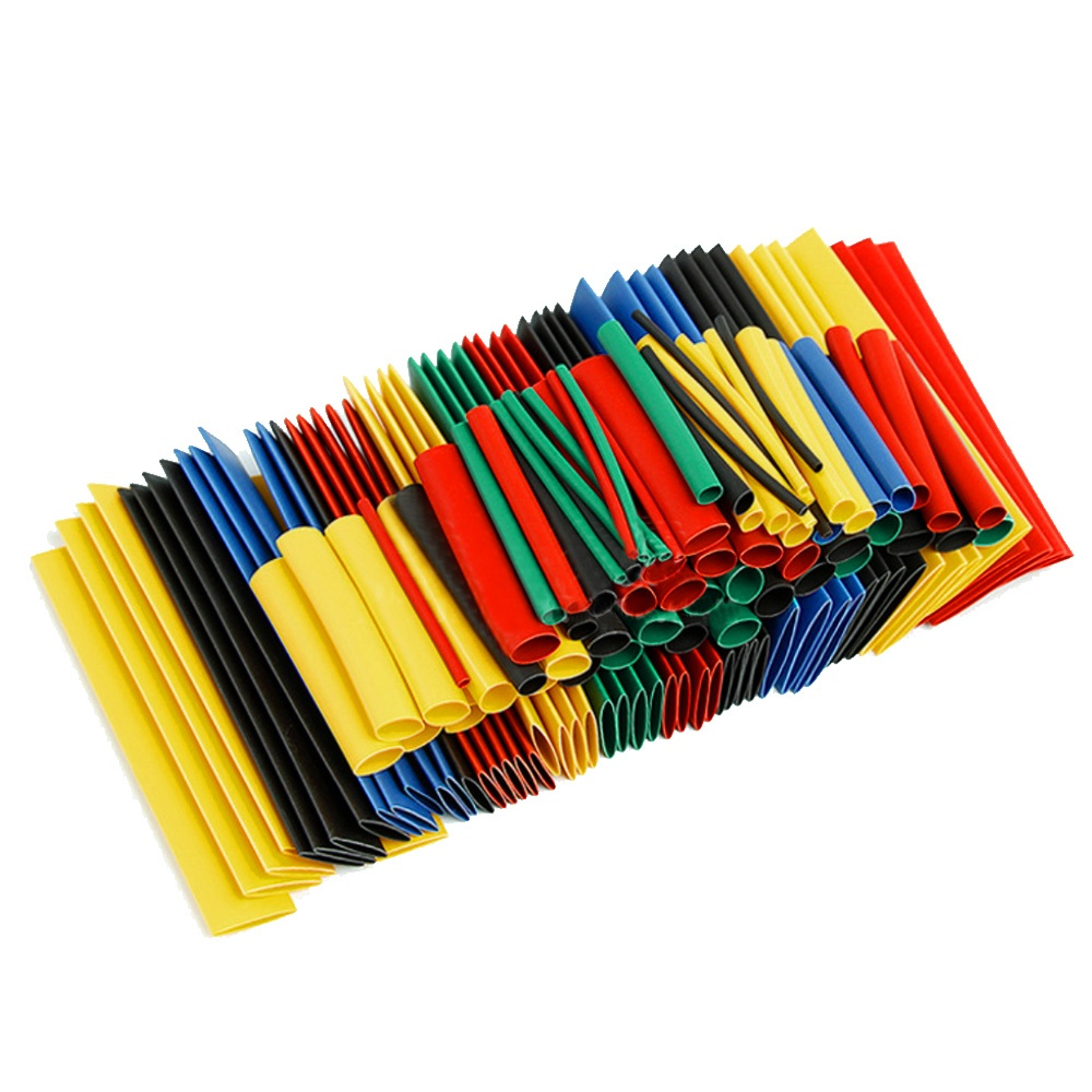 USA 328pc  2:1 Polyolefin Heat Shrink Tubing Tube Sleeve Wrap Wire Assortment 8