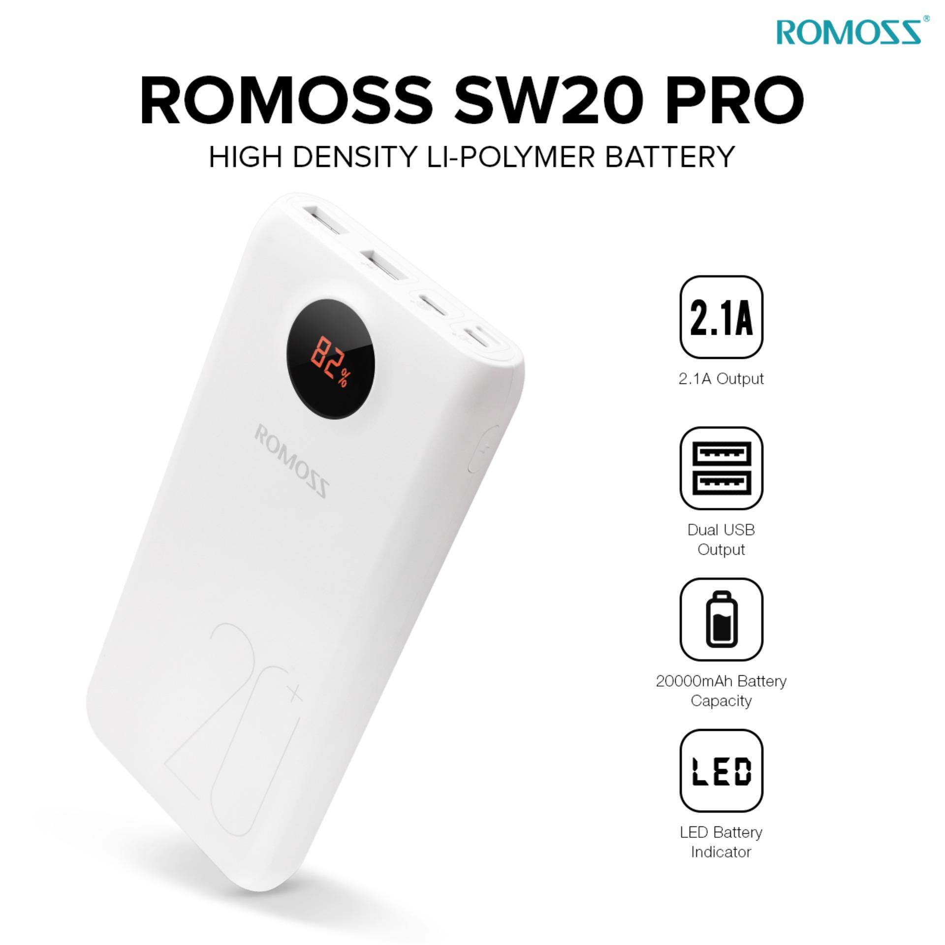 Romoss Philippines Power Bank For Sale Prices Reviews Cash Pb 20000 Sw20 Pro Mah Powerbank White