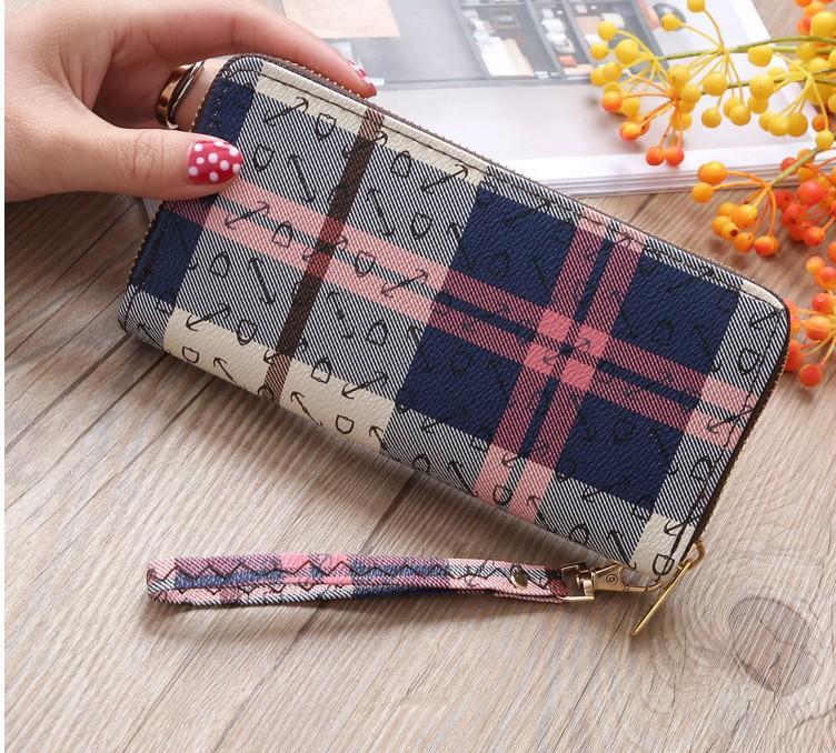 AMOG New Arrive Faux Leather Wallets Lady Long Wallet Phone Pouch Zipper  Purse Women Clutch Purses 223d8f68ab8f4