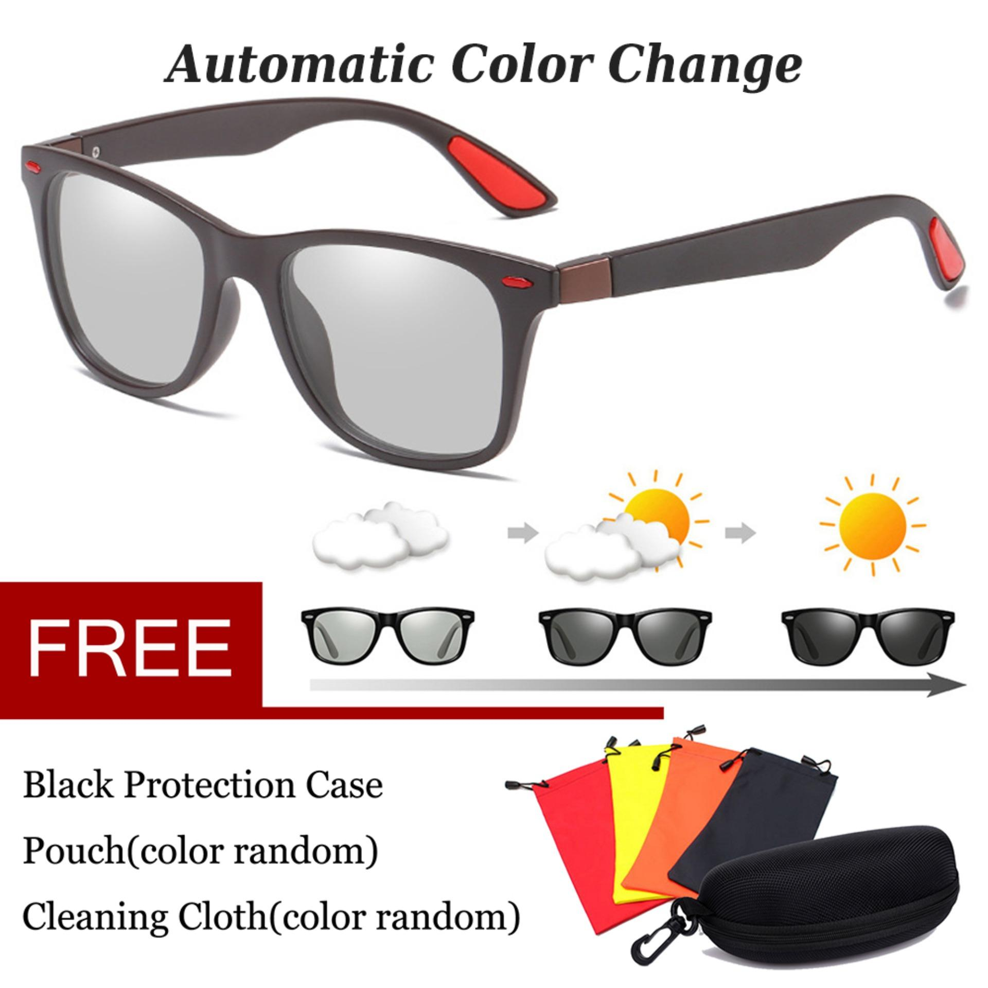 73fbea64fde Photochromic Polarized Sunglasses Discoloration Change Color Lens Eyewear  Anti Glare HD Driving Glasses UV400 569BS