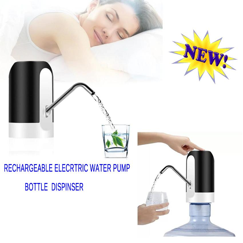 New 2018 Electric Portable Water Pump Dispenser Usb Rechargeable Drinking Bottle Switch Drinkware Tool For Home Office By Elena Accessories.