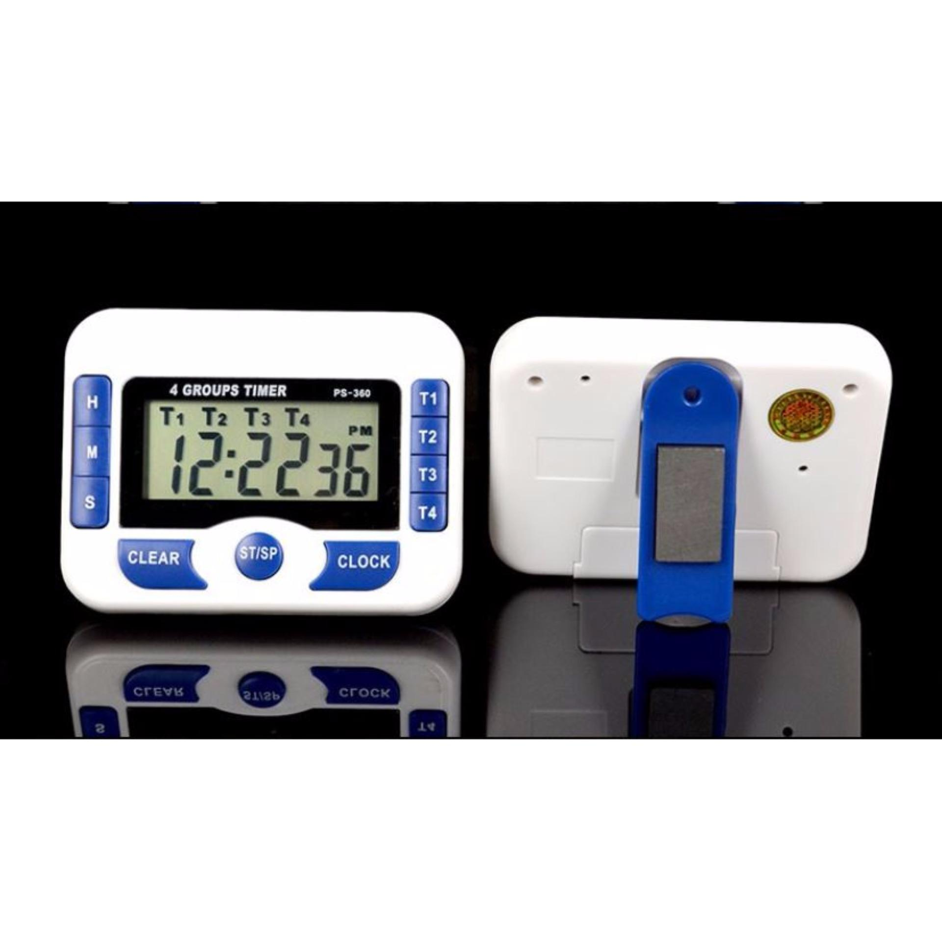 2 In 1 Digital Clock + 4 Independent Group Countdown Kitchen Timer (cod) By Ddme Electronics.