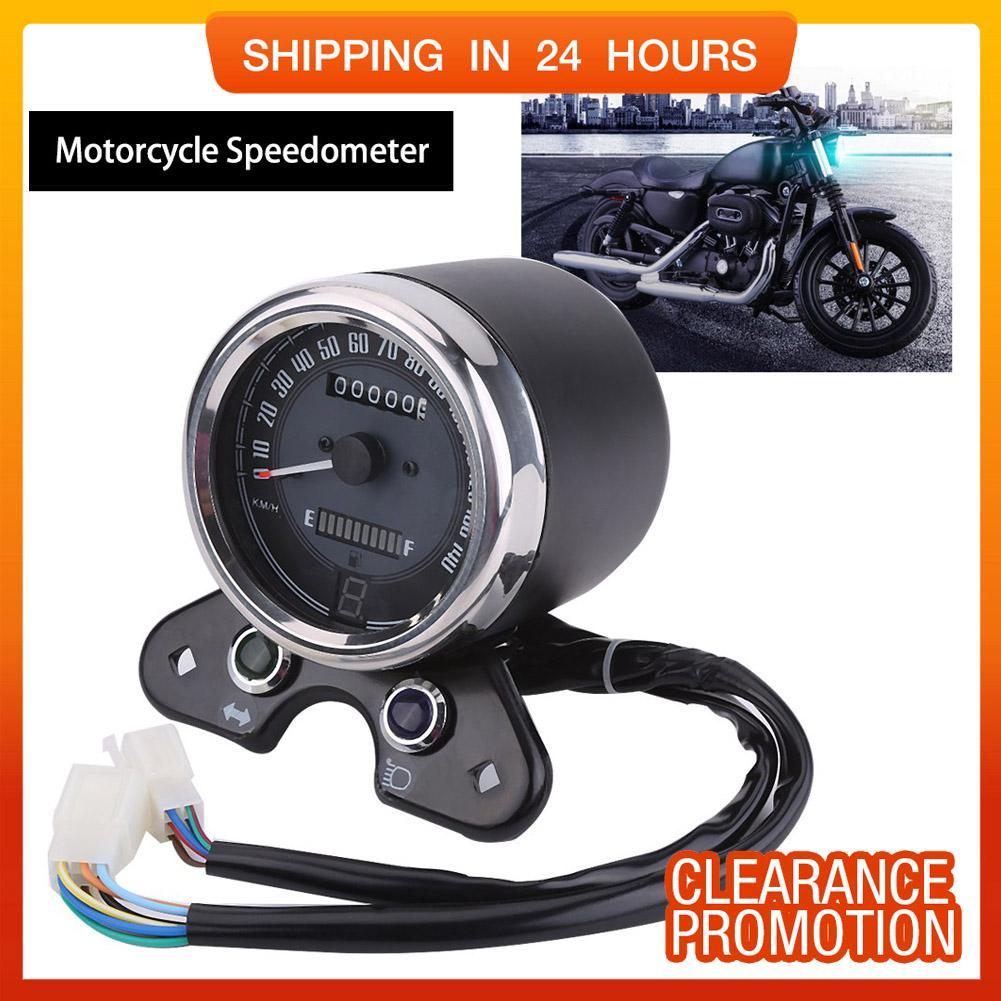 YOSOO Universal Motorcycle Odometer Speedometer Gear Digital Display 9 5cm  Mounting Hole - intl
