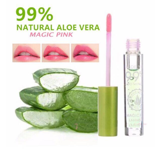 Authentic 99% Magic Pink Lip Gloss Natural Ingredients Long Lasting Dry and Pale Lips Philippines