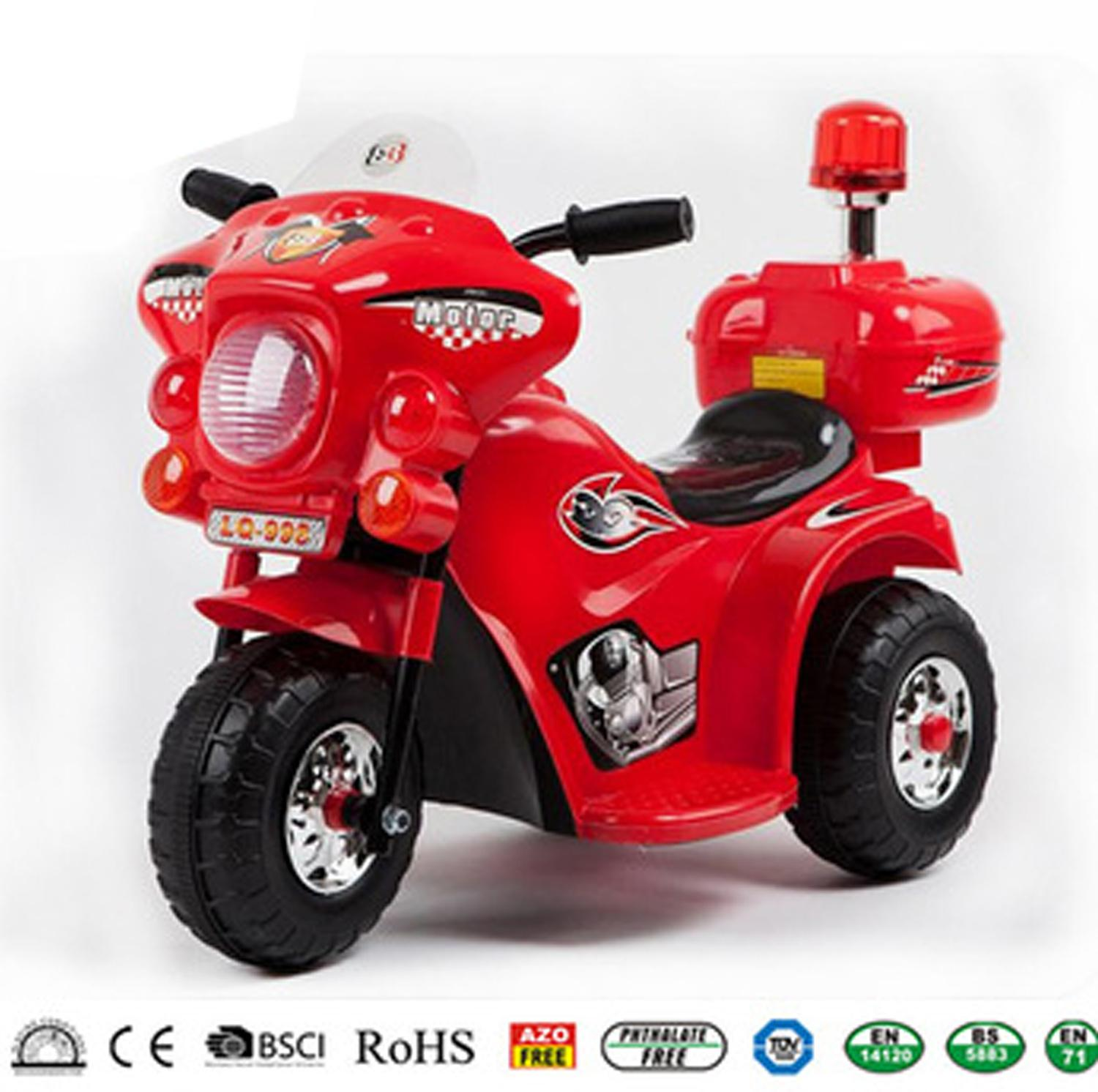 Rechargeable Motor Bike Kids Ride-On Toys Police Motorcycle By Korean Roewe Store.