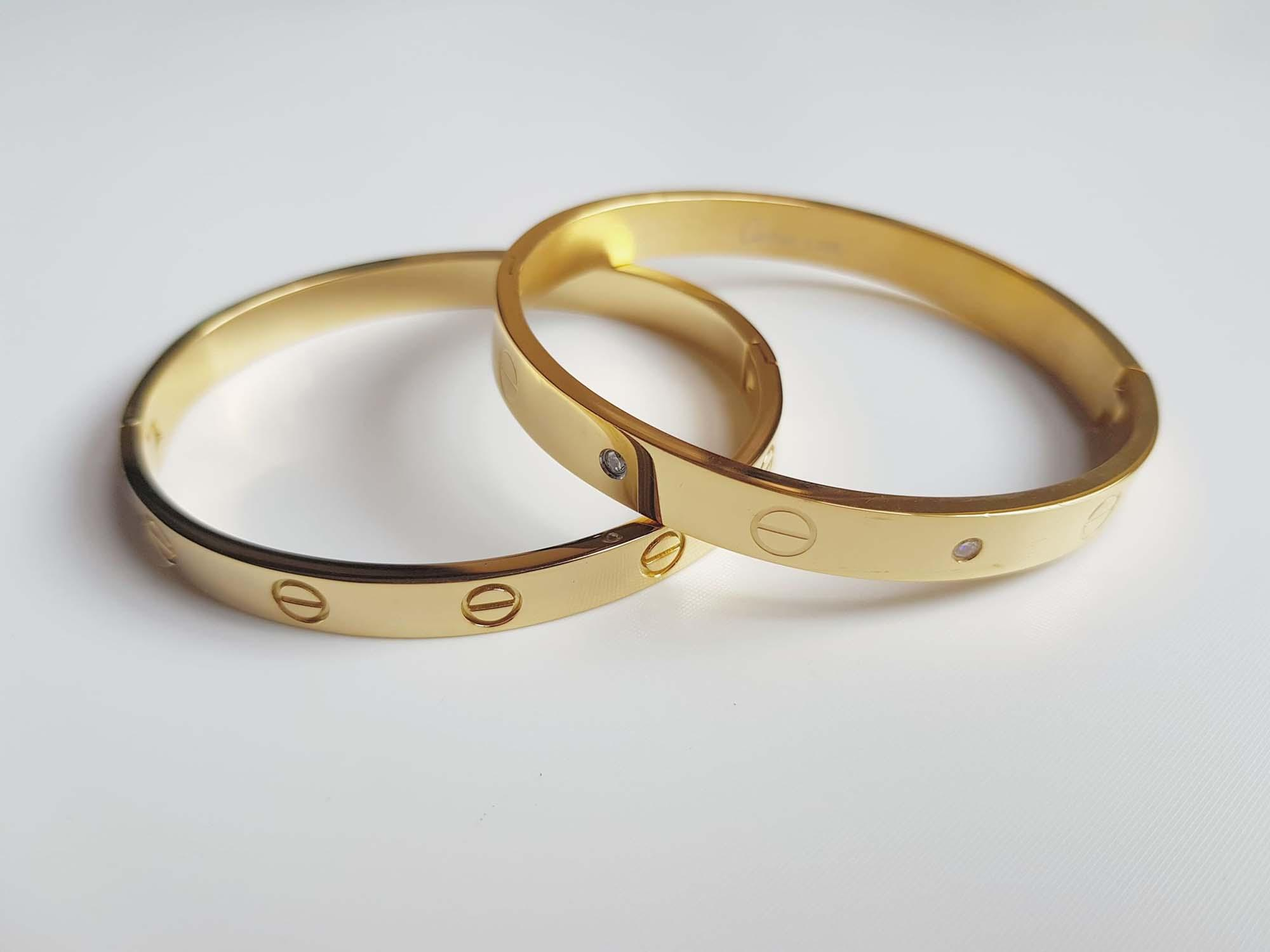 Cartier Inspired Gold Bangles