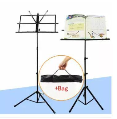 Adjustable Folding Music Stand With Carrying Bag By Sonix Sports And Music Store.