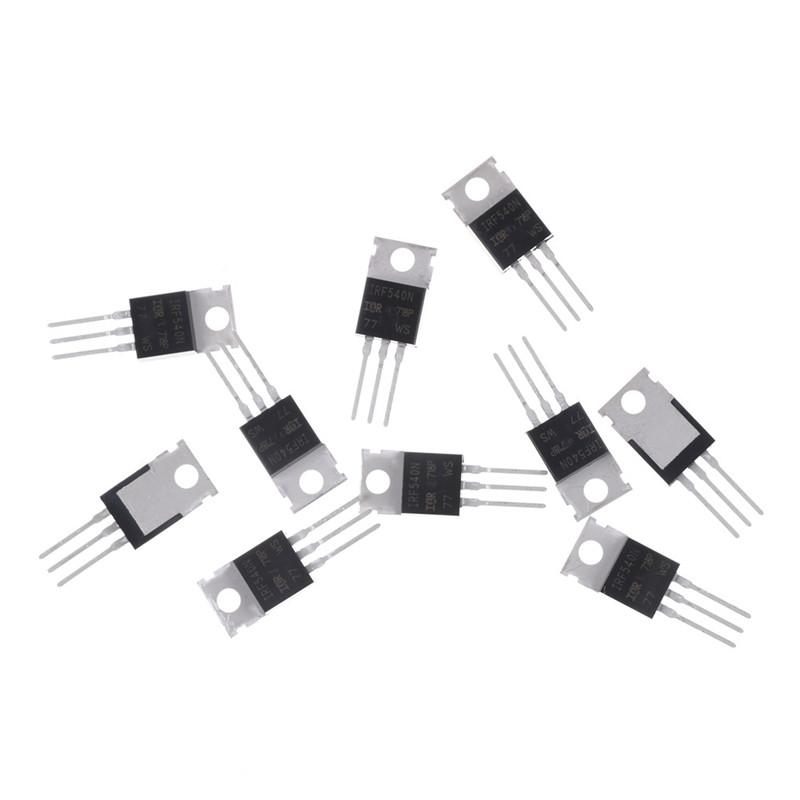 10 Pcs IRF540N IRF540 N-Channel 33A 100V Power Mosfet TO-220 - intl