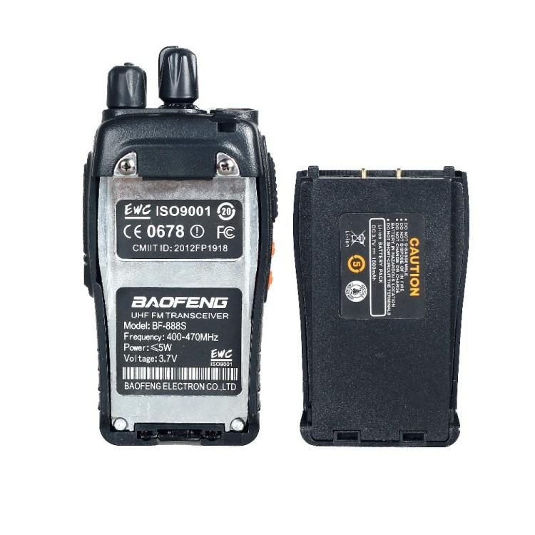 Baofeng Walkie Talkie FM Transceiver Two Way Radio BF777S Free 2 Pin  Headset BFH Set of 9