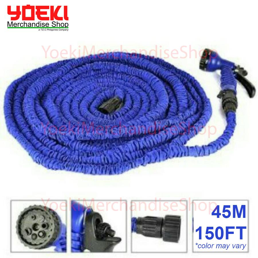 Magic Hose 45m 150ft Expandable Flexible Plastic With Sprayer Color May Vary