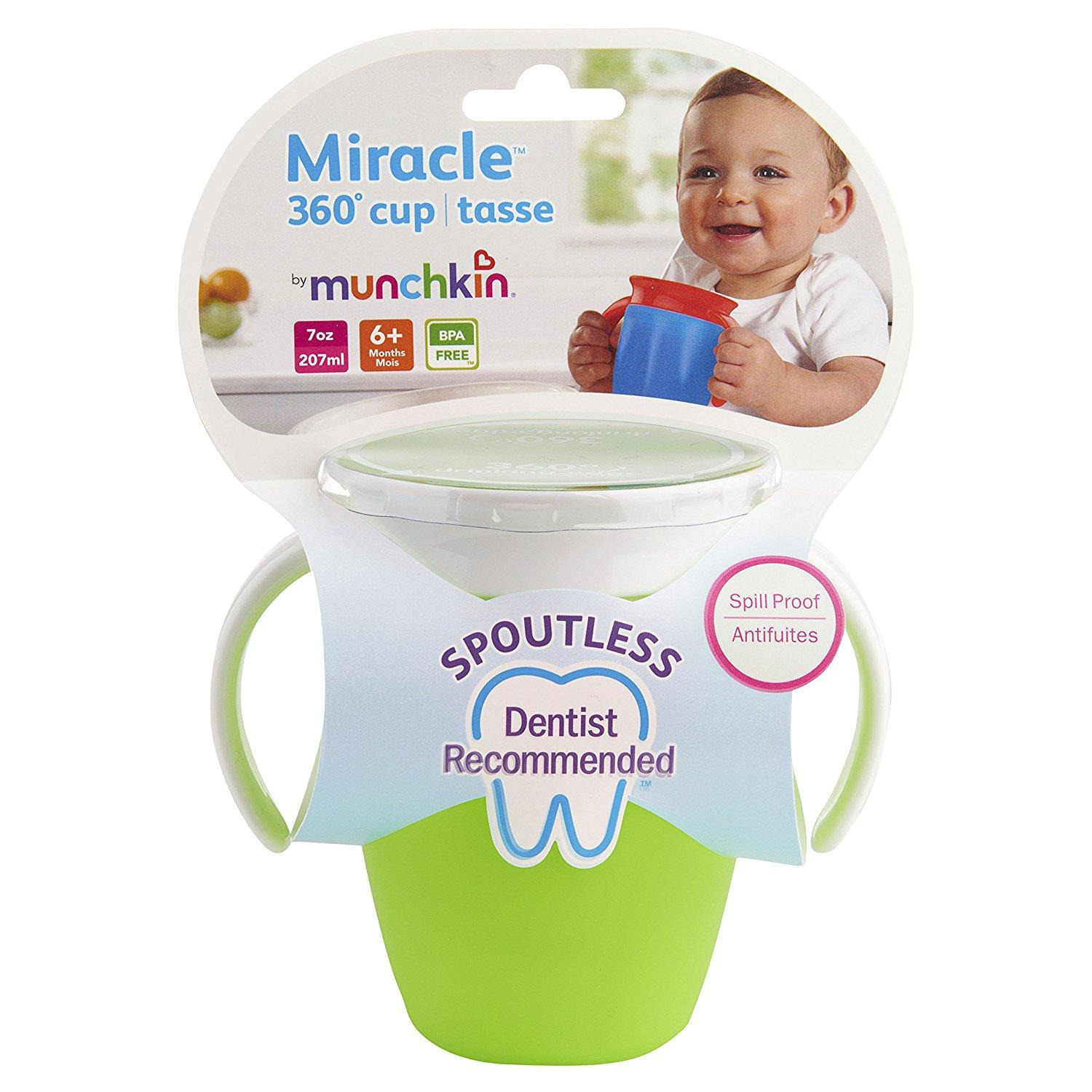 Munchkin Miracle 360 Trainer Cup 7oz-Green