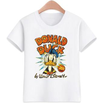 3-16 yrs.Old Donald Duck Design for Boys and Girls T-Shirts Cotton Short Sleeve Kids Tops Tee T-Shirts
