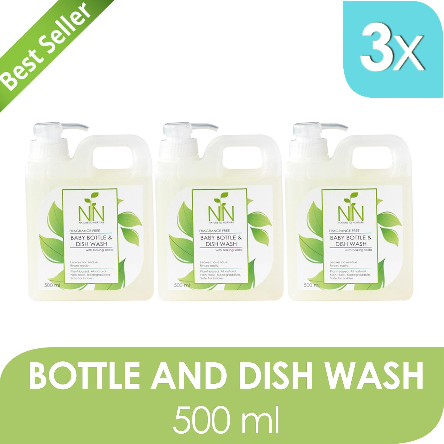 Nature To Nurture Baby Bottle And Dish Wash 500ml Set Of 3 By Nature To Nurture.
