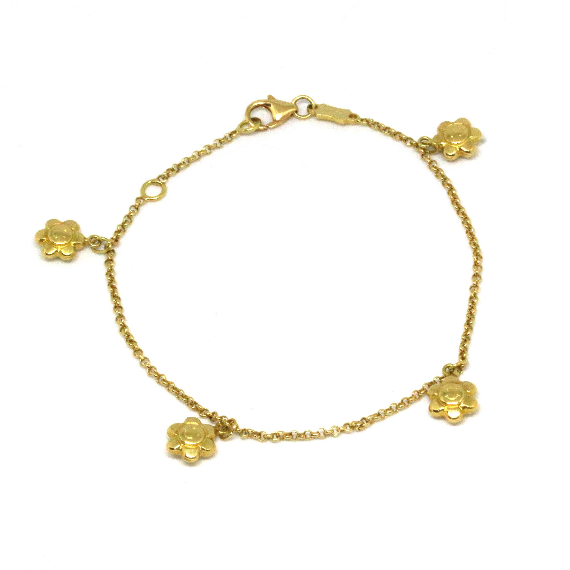flower yellow womens women sale shop bracelet bracelets design gold online for pure just jewels
