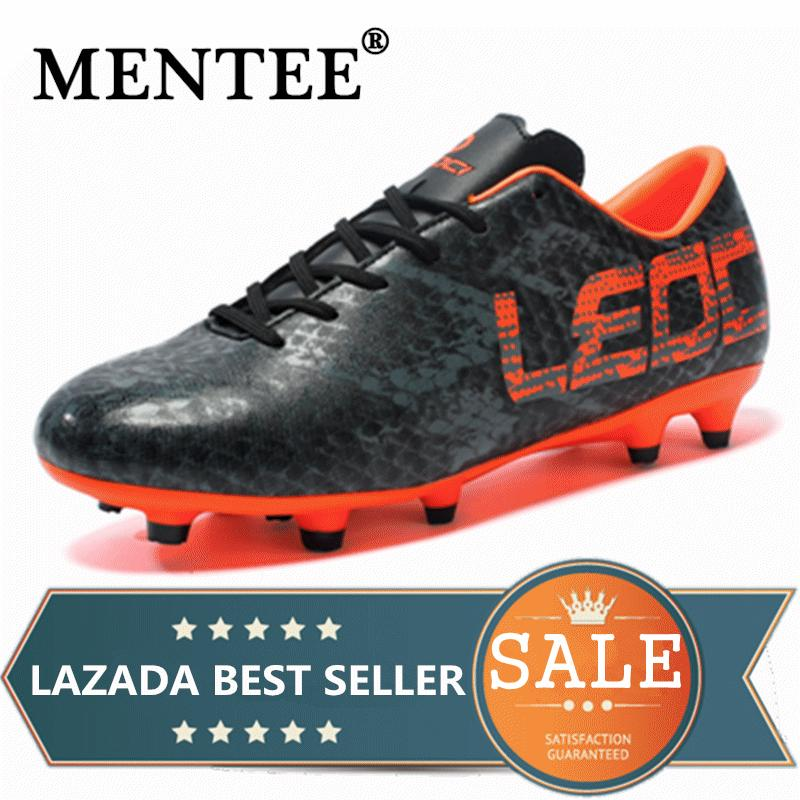6b294e908 MNETEE Size 33-45 Men Soccer Shoes Long Spikes Turf Football Boots Outdoor  Kids Soccer