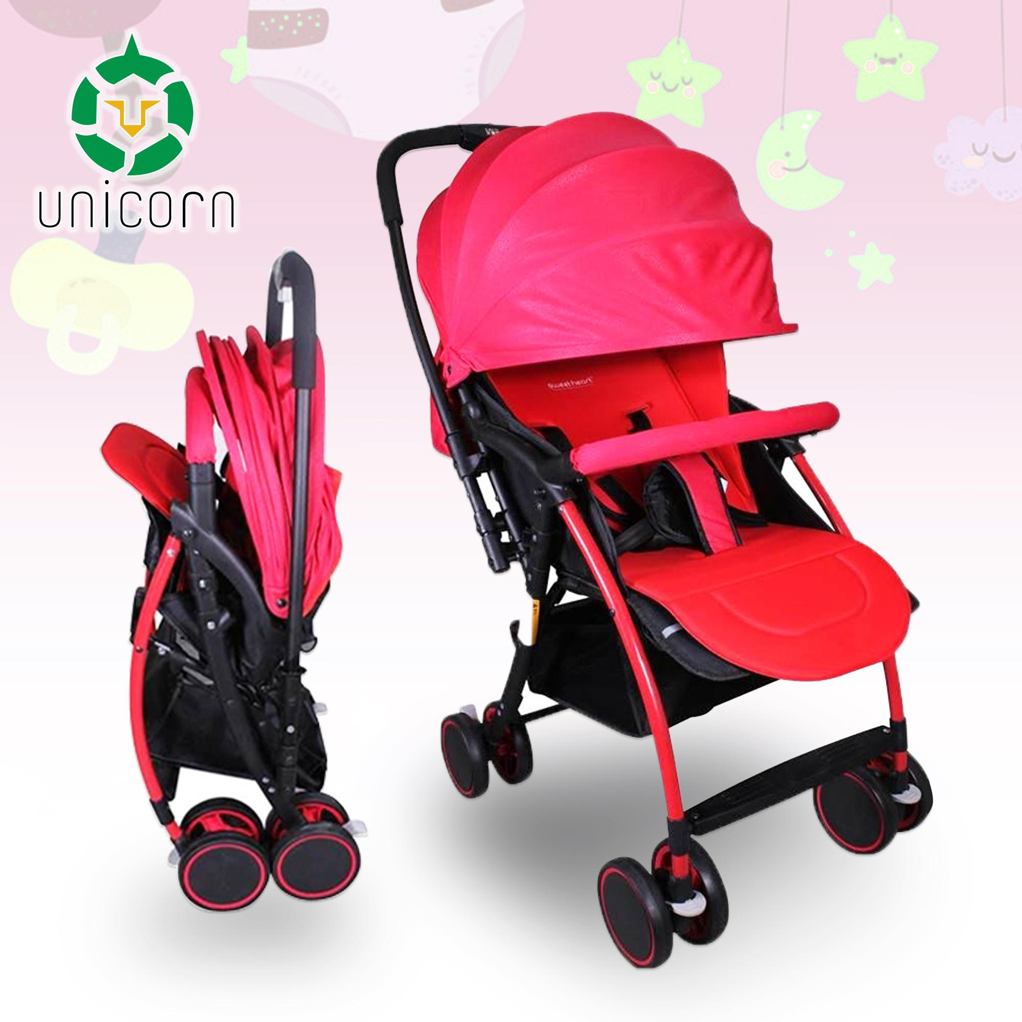 Unicorn Gab T05 Portable Folding Newborn Infant Baby Stroller Reversible Handle (red) By Unicorn Selected.
