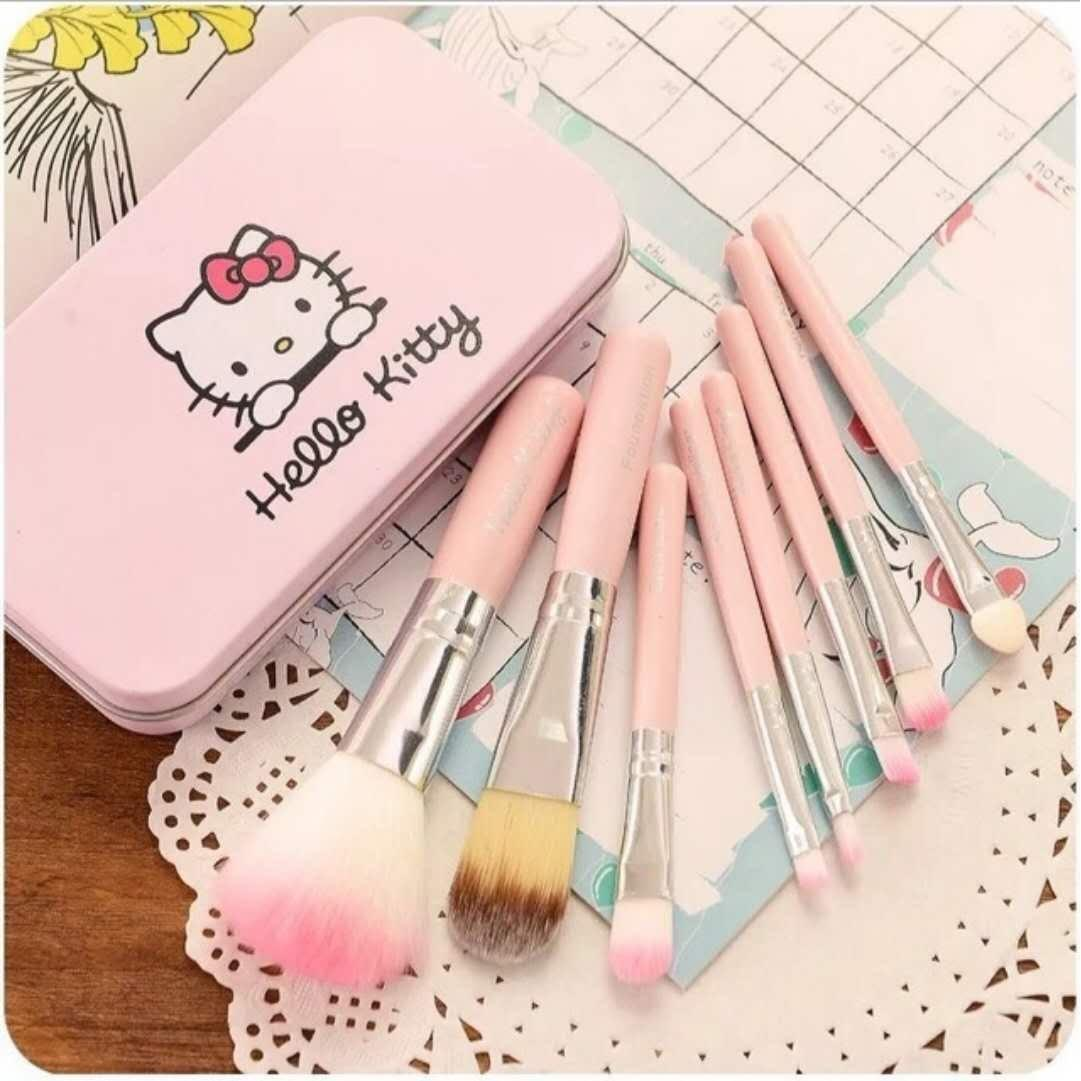 HK 7 pcs. Make Up Brush Set (Pink) Philippines