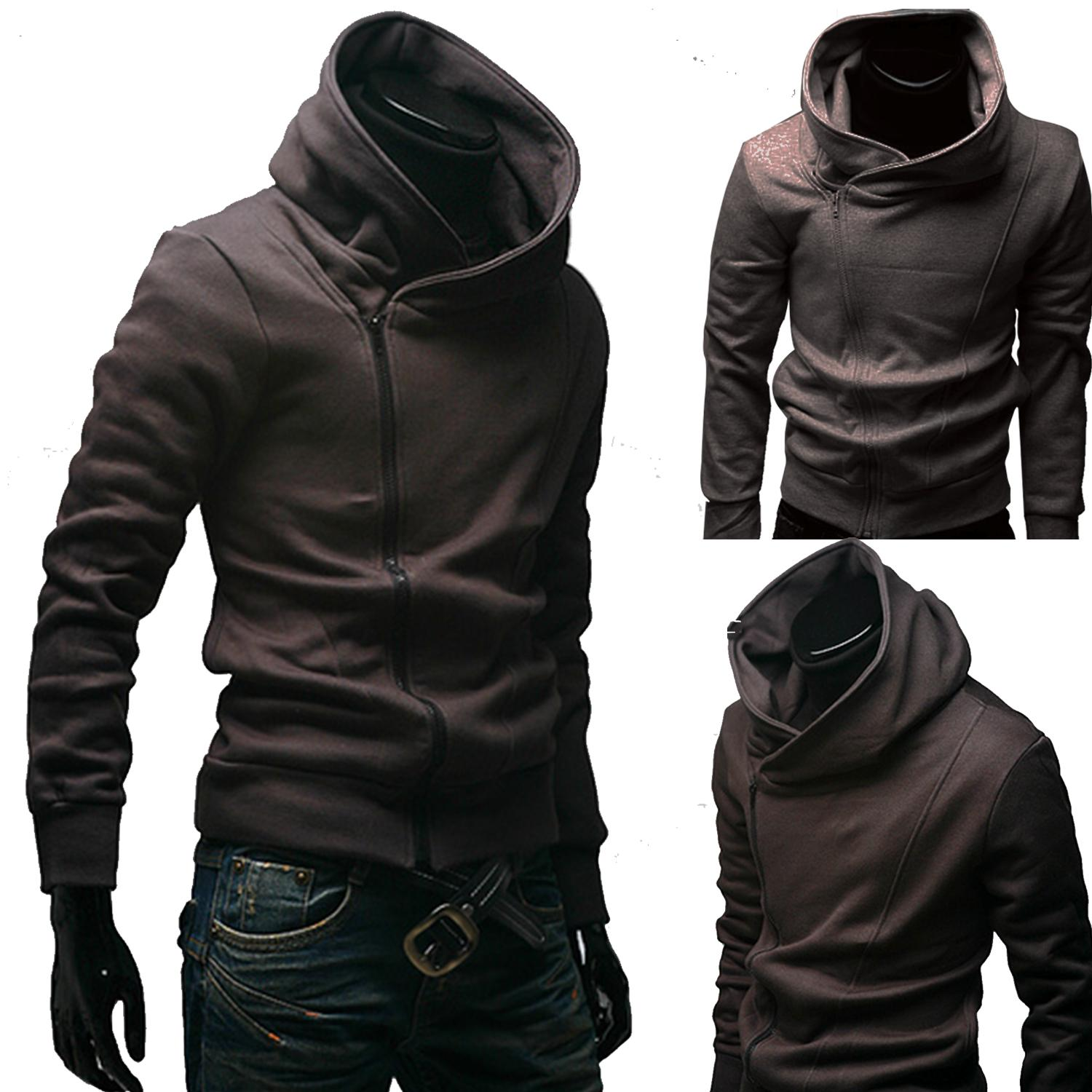 bede19cf1381 Slim Fit Hooded Jacket Slim Fit Zipped Jacket Zip Hooded Jacket Men Zipped  Jacket Zip Up