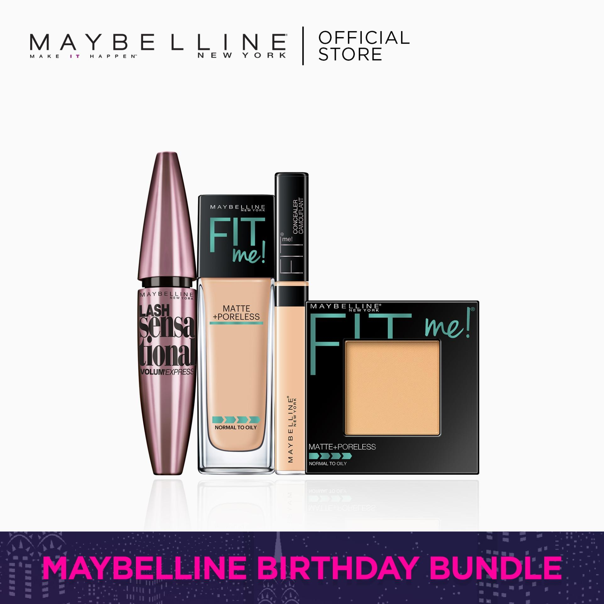 I Found My Fit: 128 Foundation + 130 Powder + 20 Concealer + Lash Sensational by Maybelline Fit Me Philippines