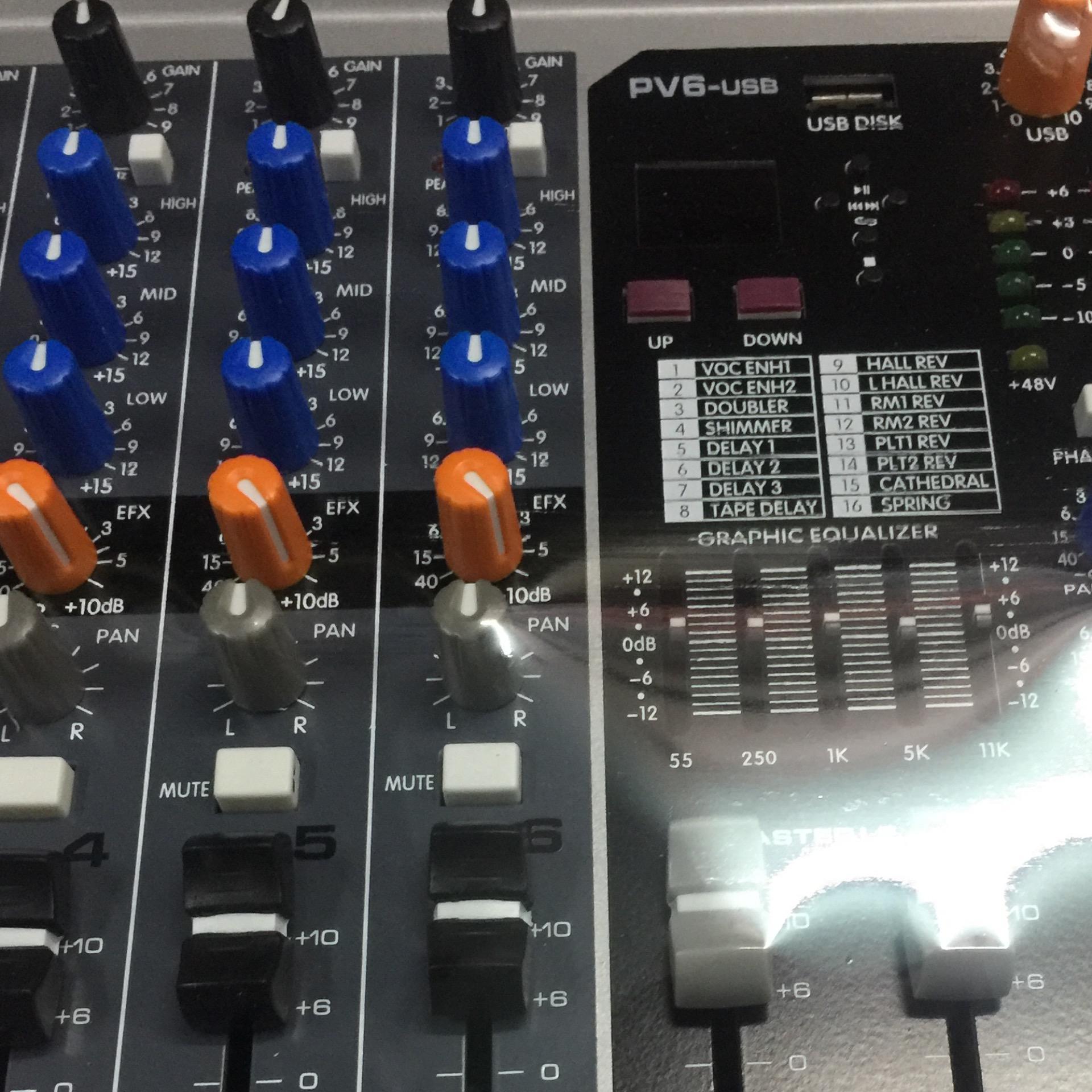Peavey Mixer PV6-USB with freebie