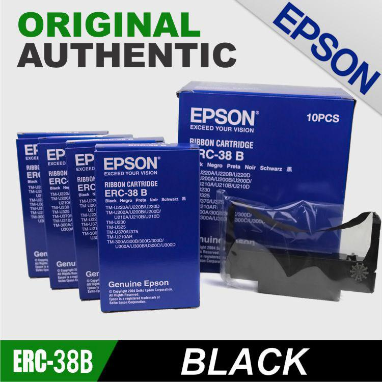 Epson Erc-38 B Ribbon Cartridge (10 Pcs.) Original Authentic Erc-38 (free Shipping For 2 Orders And Above) Gma Area By Pos Online Shop.