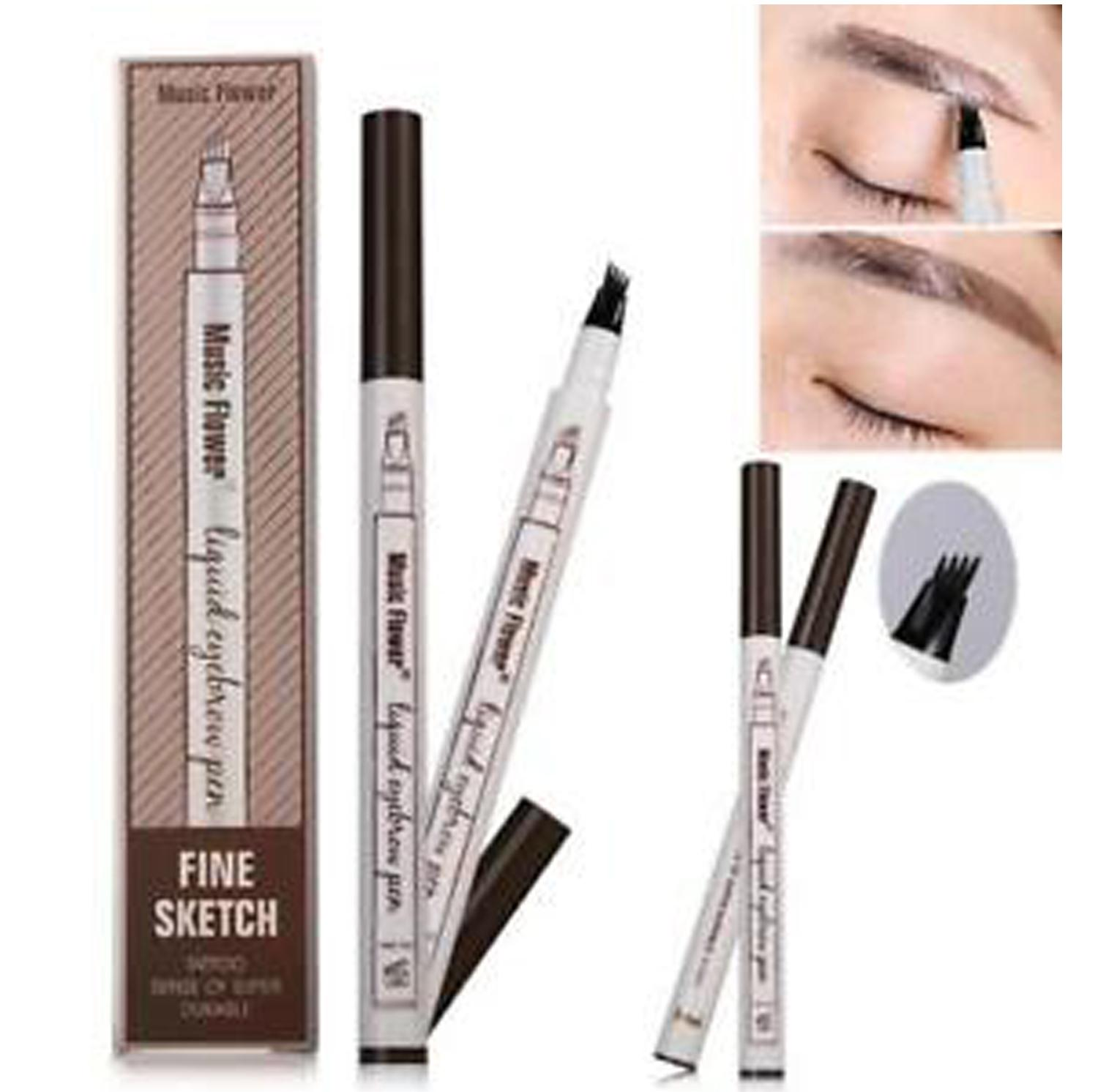 Music Flower Brand Makeup Fine Sketch Liquid Eyebrow Pen Waterproof Philippines