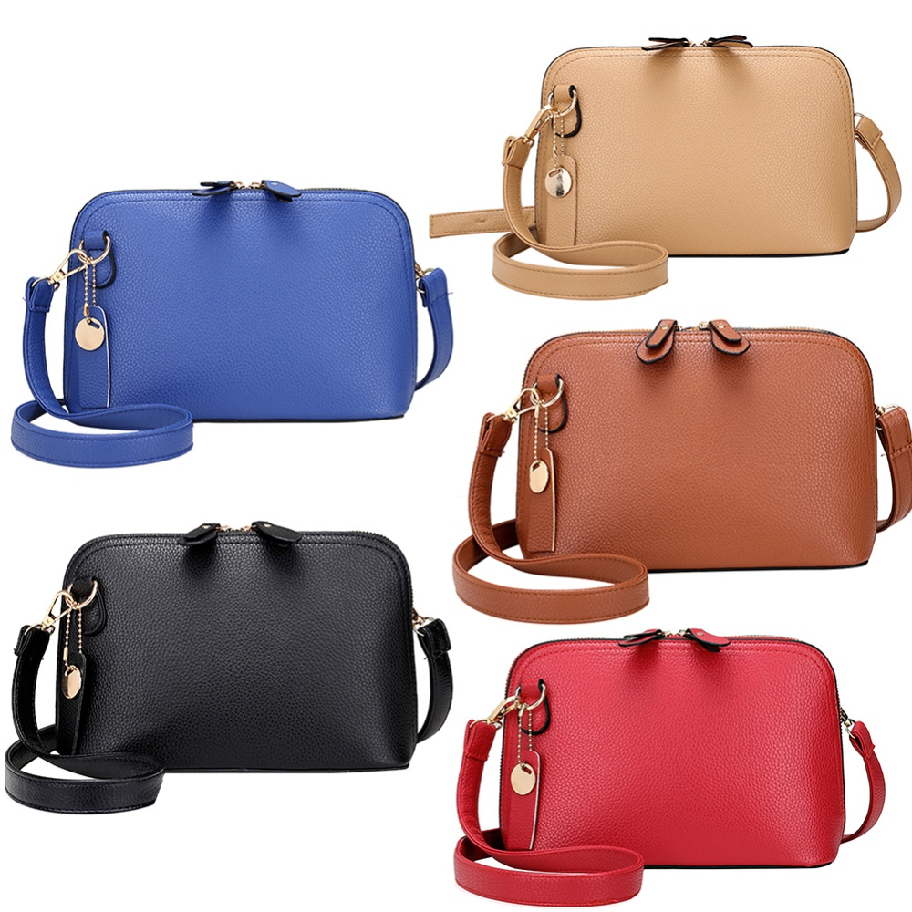 324933d4b56 MOJOYCE Women PU Leather Mini Simple Chic Messenger Bag(Black)