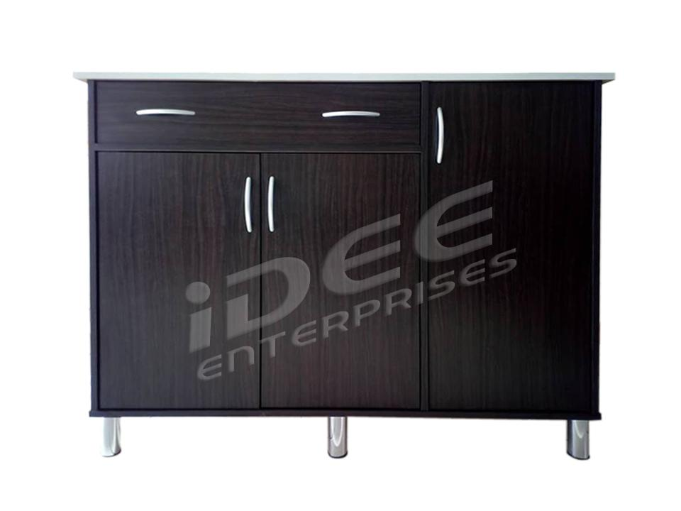Kitchen Cabinet - Tailee 2107 3 Door And 2 Drawer With Tiles Top Table (wenge) By Idee Enterprises - Furnitures.